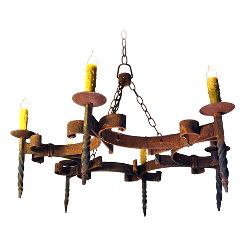 Old World Elegance: Old World Elegance With Bevolo Iron Chandeliers