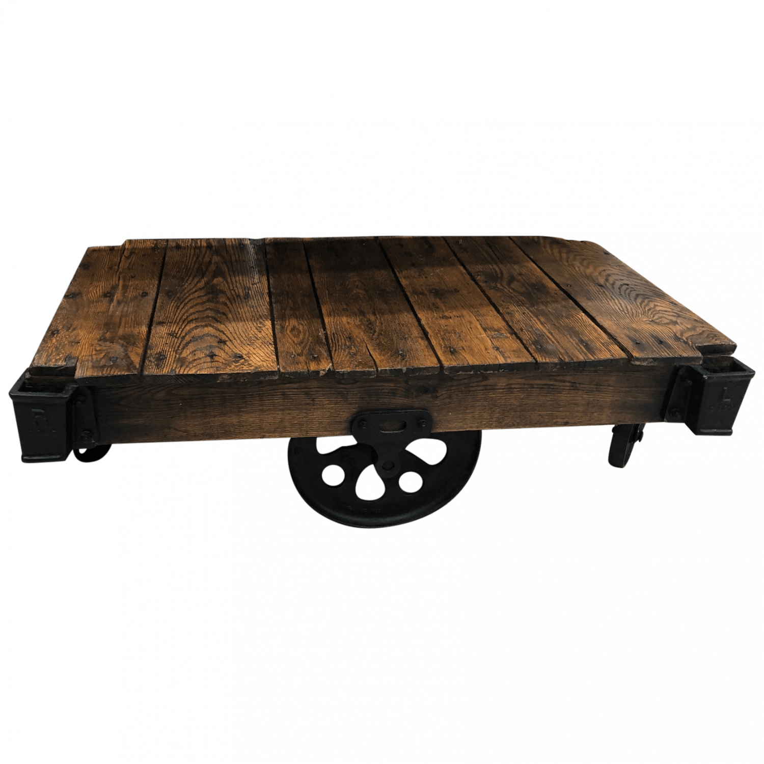 Reclaimed Wood Cart Coffee Table